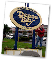 Me at the entrance to Depoe Bay, OR