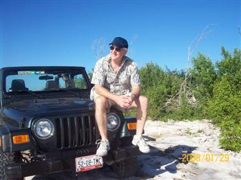 Jeep and Me in Cozumel